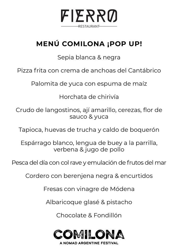 Comilona Pop Up Valencia 2019 - With Rutini Wines